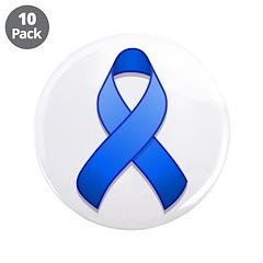 Blue Awareness Ribbon 3.5