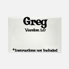 Greg Version 1.0 Rectangle Magnet