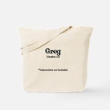 Greg Version 1.0 Tote Bag