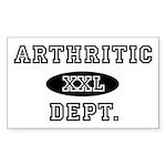 ARTHRITIC Dept. Rectangle Sticker