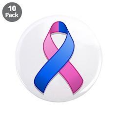 Blue and Pink Awareness Ribbon 3.5