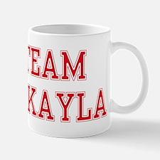 TEAM MIKAYLA  Women and apos;s Pink T-Shirt Mug