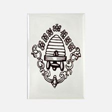 """""""Beehive & Bees"""" Rectangle Magnet (10 pack)"""
