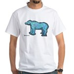 Blue Bear White T-Shirt