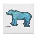 Blue Bear Tile Coaster