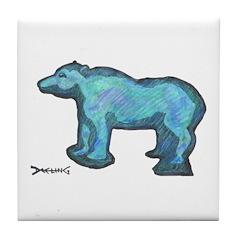 Blue Bear Tile Coaster