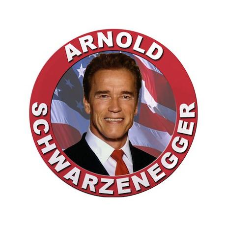"""Arnold Schwarzenegger 3.5"""" Button"""