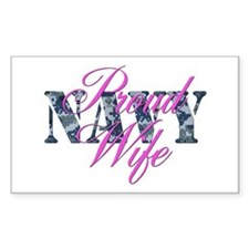 Proud Navy Wife NWU Rectangle Decal