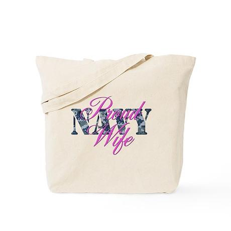 Proud Navy Wife NWU Tote Bag