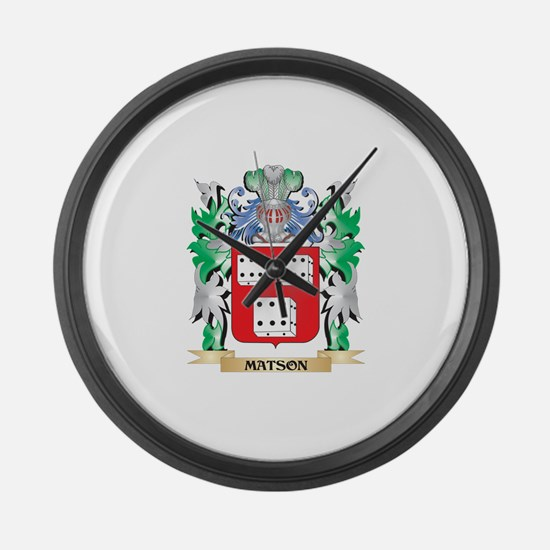 Matson Coat of Arms - Family Cres Large Wall Clock