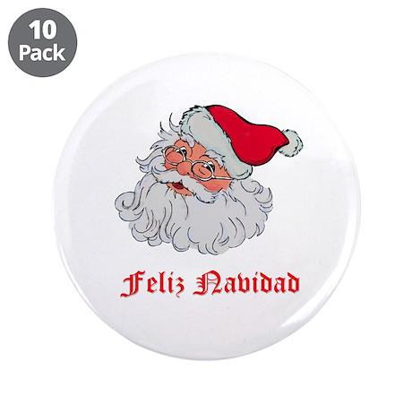 "Spanish Santa 3.5"" Button (10 pack)"