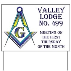 Valley Lodge Meeting Day Notice Yard Sign