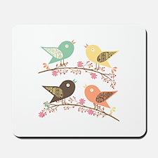 Four birds Mousepad