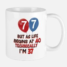 77th Brithday Design Mugs