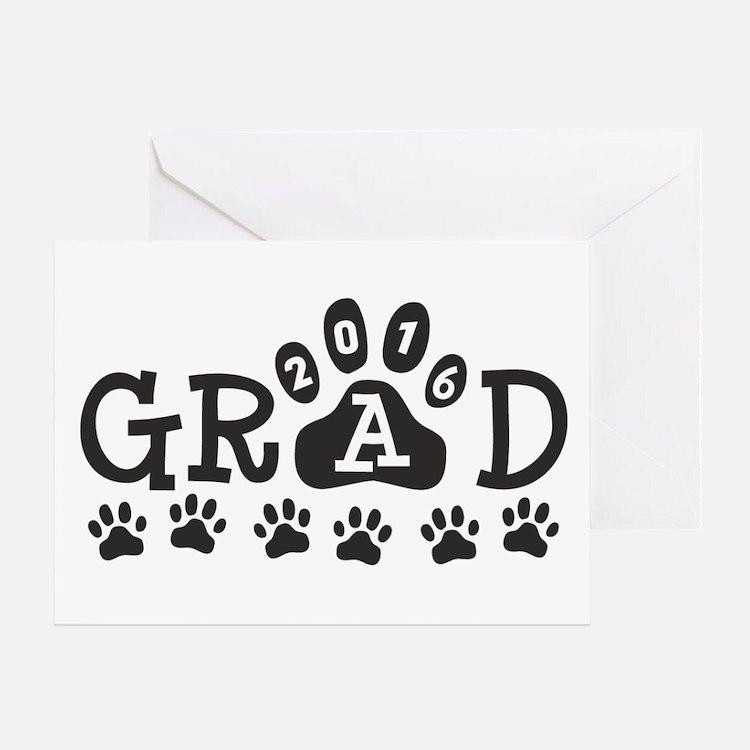 GRAD 2016 Paws Greeting Card
