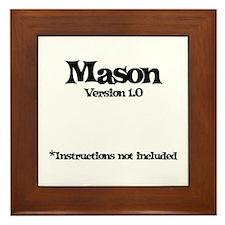 Mason Version 1.0 Framed Tile