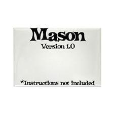 Mason Version 1.0 Rectangle Magnet