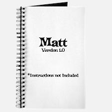 Matt Version 1.0 Journal