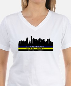 Boston Strong with blue and yellow T-Shirt