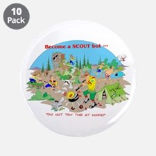 "DO NOT try this at home 3.5"" Button (10 pack)"