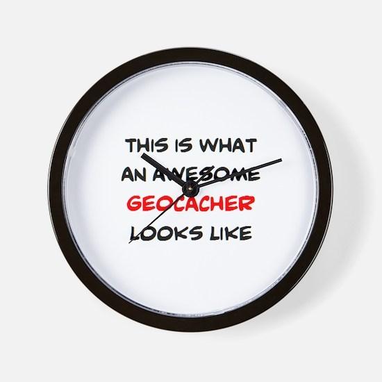 awesome geocacher Wall Clock