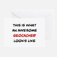 awesome geocacher Greeting Card