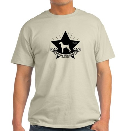 Obey the Weimaraner! Star icon Light T-Shirt