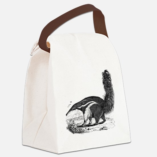 Funny Anteater Canvas Lunch Bag