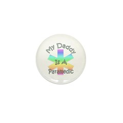 Paramedic Dad Mini Button (10 pack)