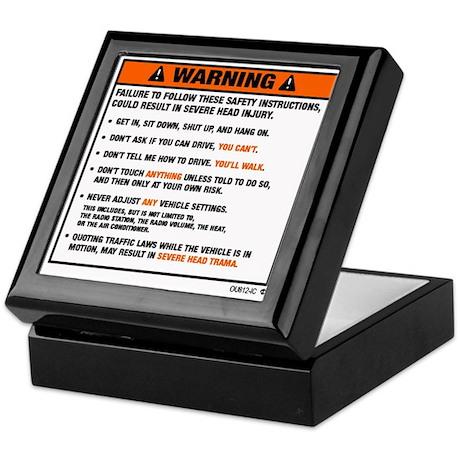 OEM warning label Keepsake Box