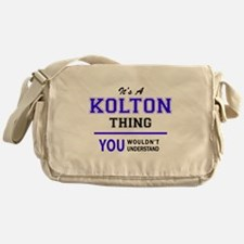It's KOLTON thing, you wouldn't unde Messenger Bag