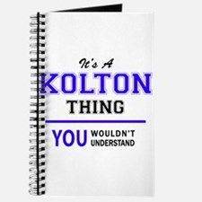 It's KOLTON thing, you wouldn't understand Journal