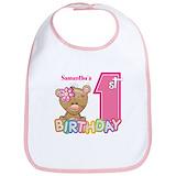 1st birthday Cotton Bibs