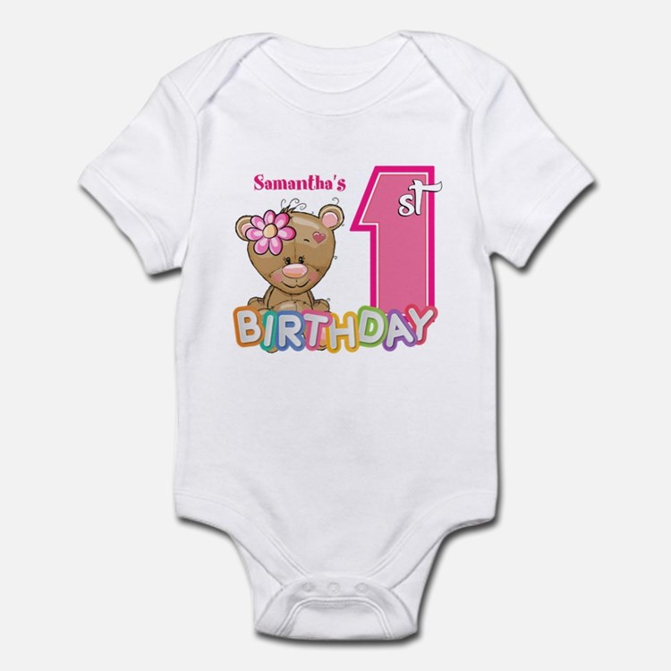 Baby First Birthday Cute Infant Bodysuit