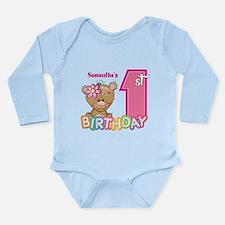 Baby First Birthday Cu Long Sleeve Infant Bodysuit