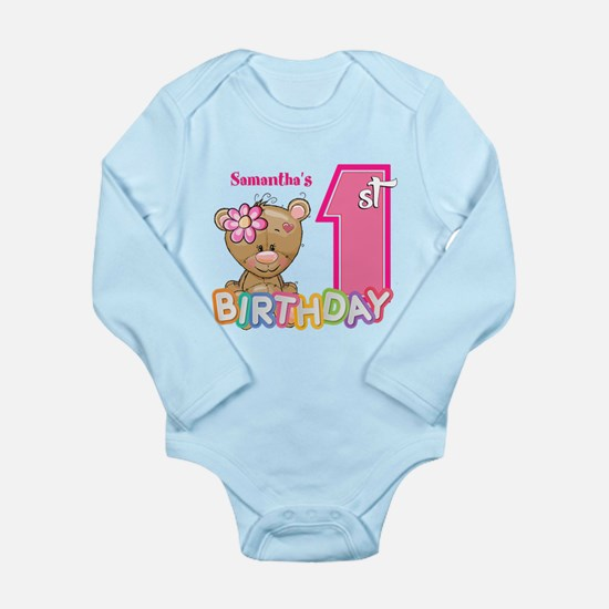 Baby First Birthday Cu Long Sleeve Infant Bodysuit