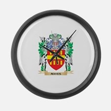 Mayes Coat of Arms - Family Crest Large Wall Clock