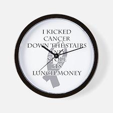 Cancer Bully (Gray Ribbon) Wall Clock