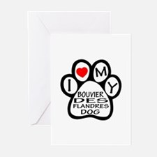 I Love My Bouvier Des Fl Greeting Cards (Pk of 20)