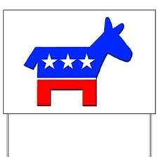 Democrat Donkey Logo Yard Sign