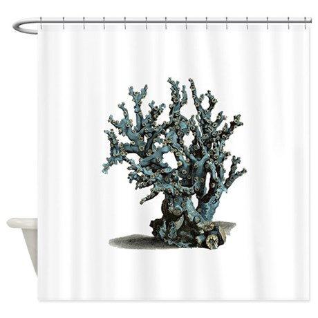 Sea Coral Shower Curtain By DaysOfOld