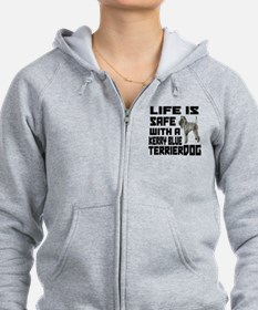 Life Is Safe With A Kerry Blue Zip Hoodie