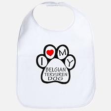 I Love My Belgian Tervuren Dog Bib