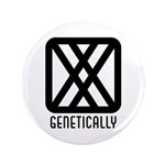 "Genetically : Female 3.5"" Button (100 pack)"