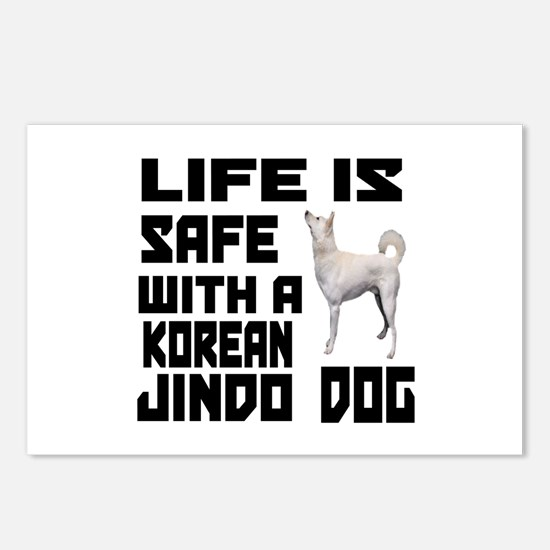 Life Is Safe With A Jindo Postcards (Package of 8)