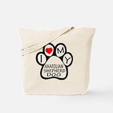 I Love My Anatolian Shepherd dog Tote Bag