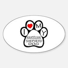 I Love My Anatolian Shepherd dog Decal