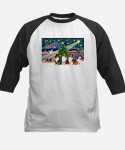 XmasMagic/3 Shelties(t3) Kids Baseball Jersey