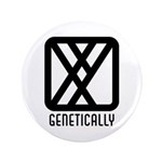 "Genetically : Male 3.5"" Button (100 pack)"