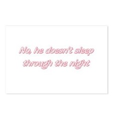 He Doesn't Sleep Through Postcards (Package of 8)